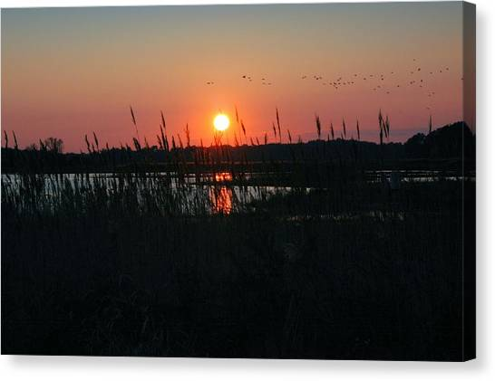 Primehook Sunset Canvas Print by See Me Beautiful Photography
