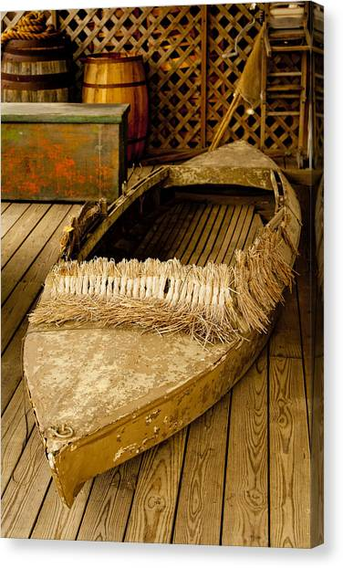 Primitive Duck Skiff Canvas Print
