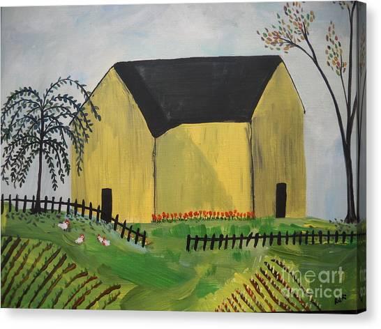 Primitive Folk Canvas Print by Reina Resto