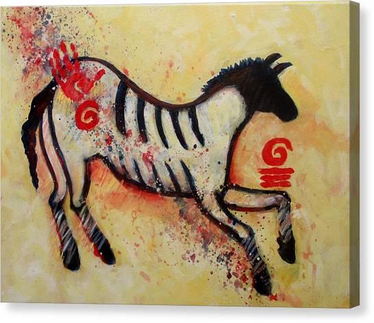 Primitive Little Horse Canvas Print