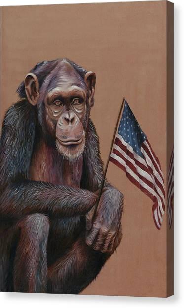 Primitive Patriotism Canvas Print by Jim Figora