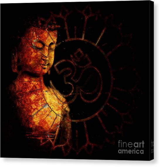 Om Canvas Print - Primordial Aum by Tim Gainey