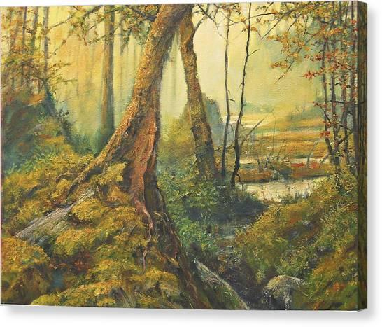 Primordial Exploration Canvas Print by Craig shanti Mackinnon