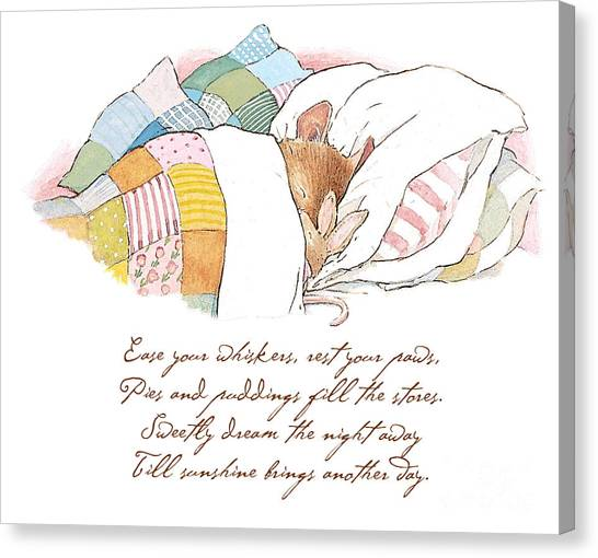 Countryside Canvas Print - Primrose Goes To Sleep by Brambly Hedge