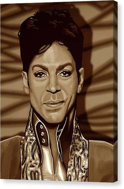 Rhythm And Blues Canvas Print - Prince 2 Gold by Paul Meijering