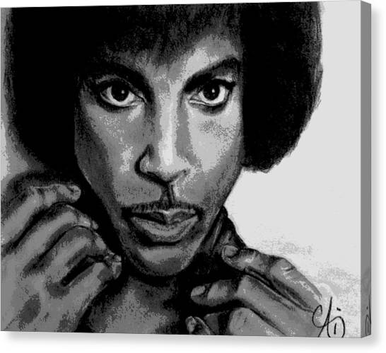 Prince Art - Pencil Drawing From Photography - Ai P. Nilson Canvas Print