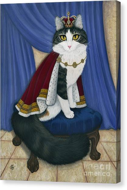 Prince Anakin The Two Legged Cat - Regal Royal Cat Canvas Print