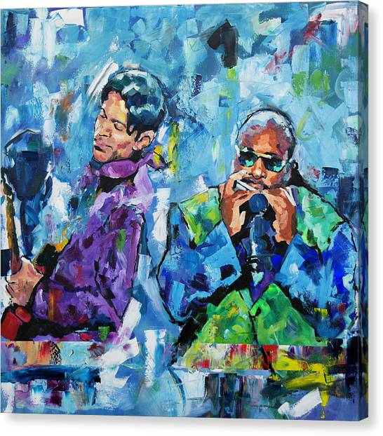 Prince And Stevie Canvas Print