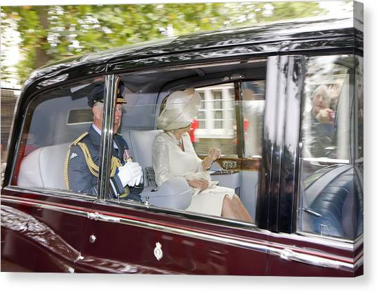 Prince Charles And Camilla Canvas Print