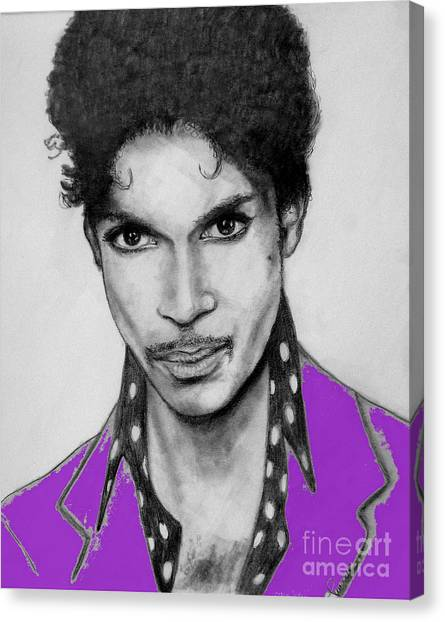 Prince In Purple Canvas Print