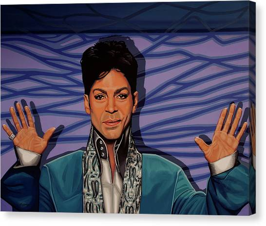 Rhythm And Blues Canvas Print - Prince 2 by Paul Meijering