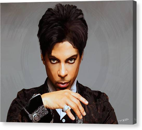 Prince Canvas Print - Prince by Paul Tagliamonte