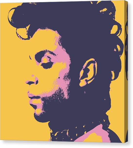 Andy Warhol Canvas Print - Prince Pop Art by Dan Sproul