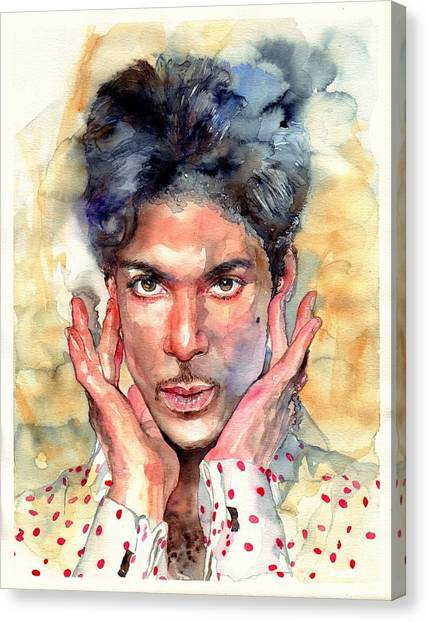 Prince Canvas Print - Prince Rogers Nelson Portrait by Suzann's Art