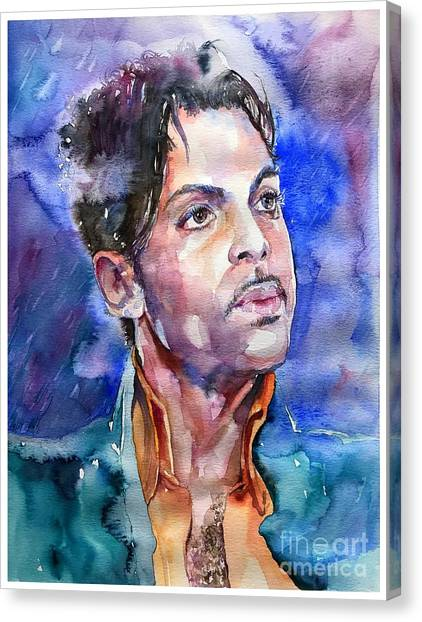 Prince Canvas Print - Prince Rogers Nelson Super Bowl by Suzann's Art
