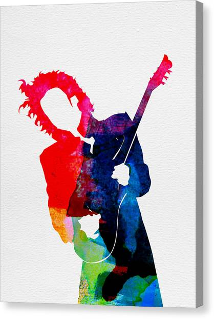 Classical Guitars Canvas Print - Prince Watercolor by Naxart Studio