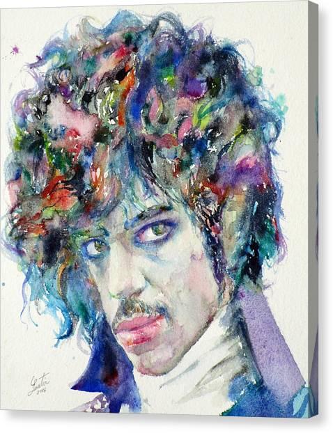Prince - Watercolor Portrait Canvas Print