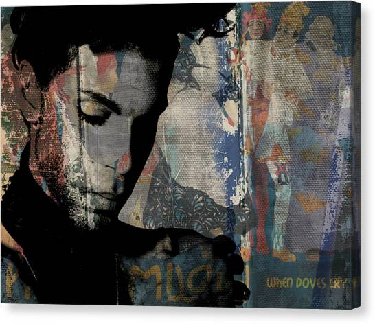 Prince Canvas Print - Prince - Art by Paul Lovering