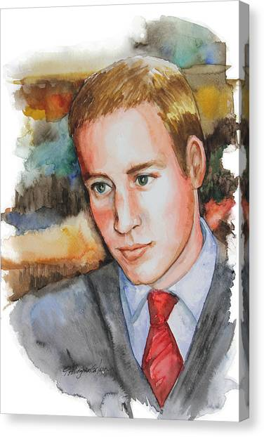 Kate Middleton Canvas Print - Prince William by Patricia Allingham Carlson