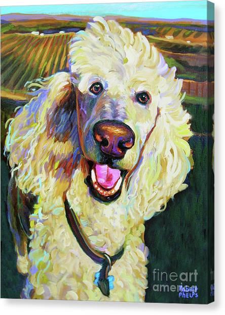 Princely Poodle Canvas Print