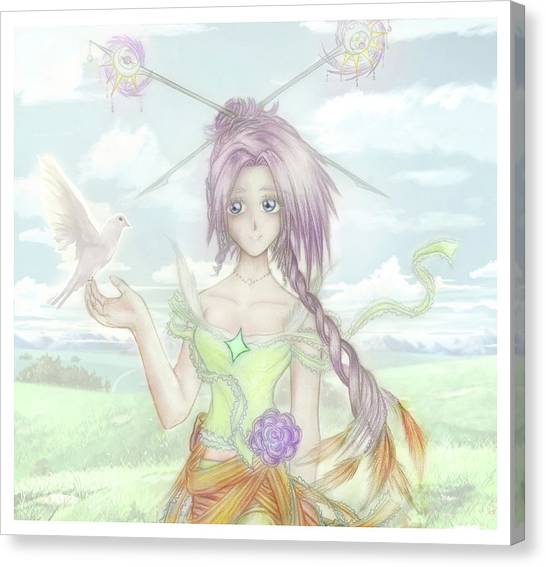 Canvas Print featuring the mixed media Princess Altiana Colour by Shawn Dall
