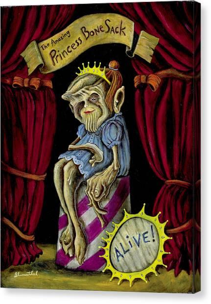 Princess Bone Sack Canvas Print