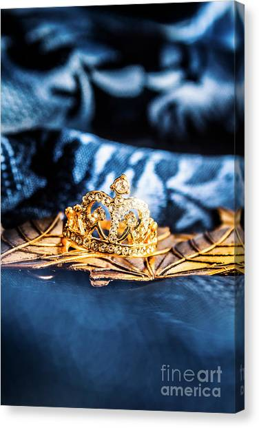 Princess Canvas Print - Princess Cut Diamond Ring by Jorgo Photography - Wall Art Gallery