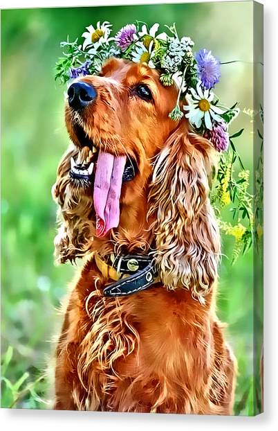 Princess Daisy Canvas Print by Kathy Tarochione