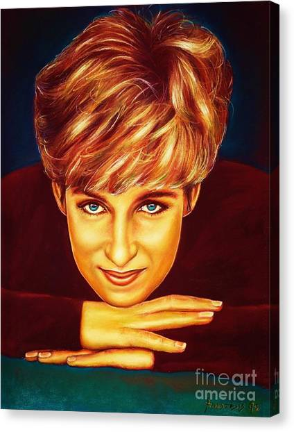 Princess Diana  Canvas Print by Anastasis  Anastasi