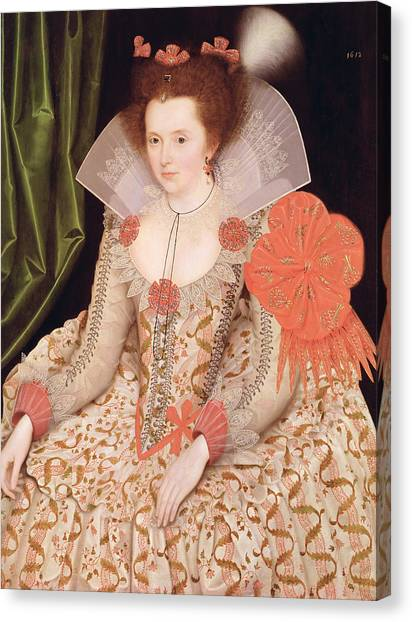 Queen Elizabeth Canvas Print - Princess Elizabeth The Daughter Of King James I by Marcus Gheeraerts