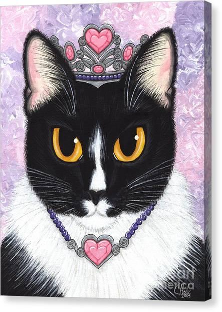 Princess Fiona -tuxedo Cat Canvas Print