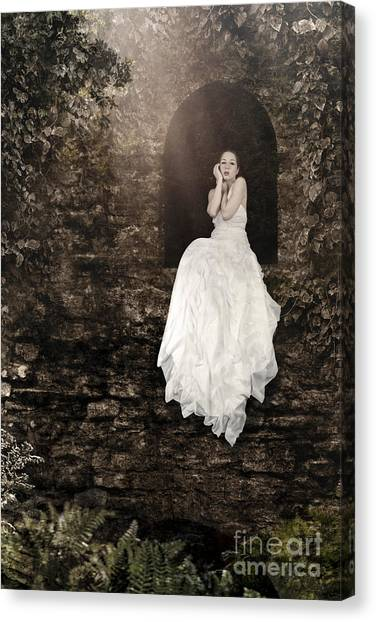 Princess In The Tower Canvas Print