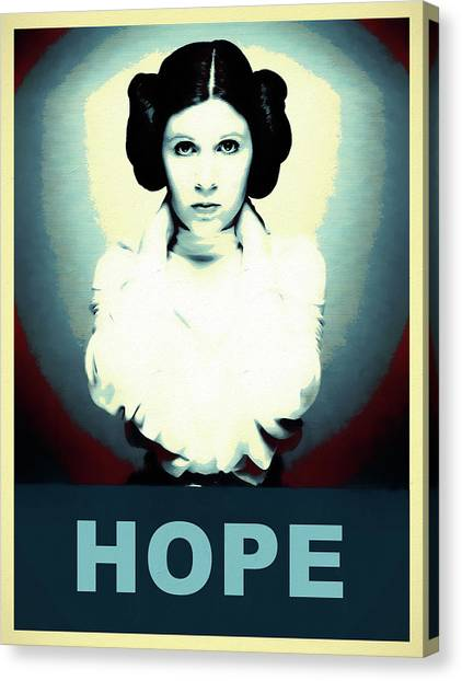 Obi-wan Kenobi Canvas Print - Princess Leia Hope by Dan Sproul