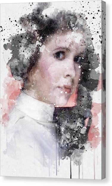 Leia Organa Canvas Print - Princess Leia by Jeffrey St Romain