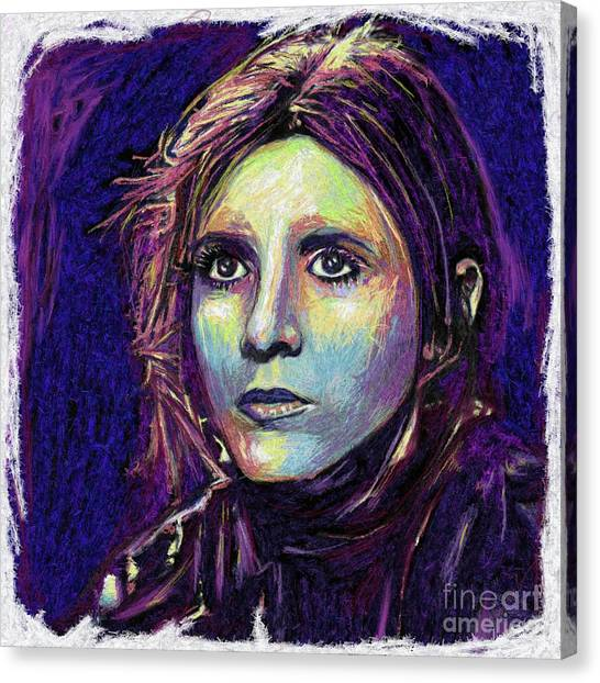 Leia Organa Canvas Print - Princess Leia by Julianne Black