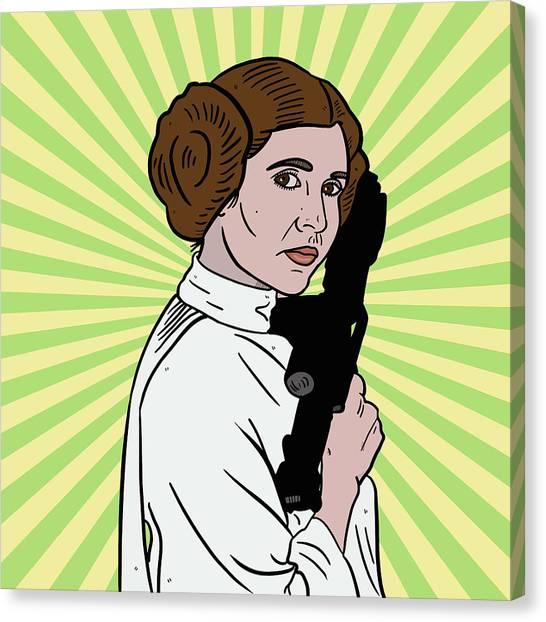 Leia Organa Canvas Print - Princess Leia by Nicole Wilson