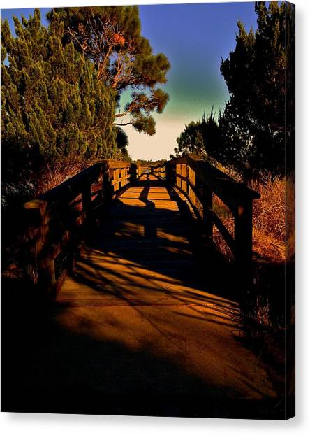 Canvas Print - Princess Place Walkway by Charles Schaefer