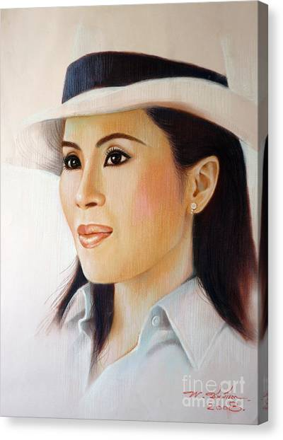 Princess Ubonrat Rachakanya Canvas Print by Chonkhet Phanwichien