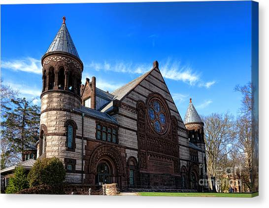 Princeton University Canvas Print - Princeton University Alexander Hall  by Olivier Le Queinec