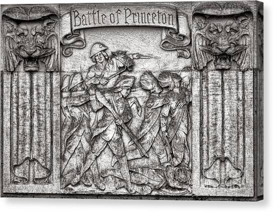 Princeton University Canvas Print - Princeton University Battle Commemorative Plaque by Olivier Le Queinec