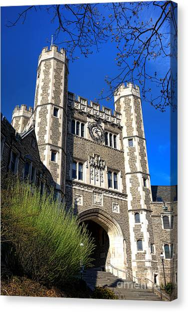 Princeton University Canvas Print - Princeton University Blair And Buyers Hall Tower by Olivier Le Queinec