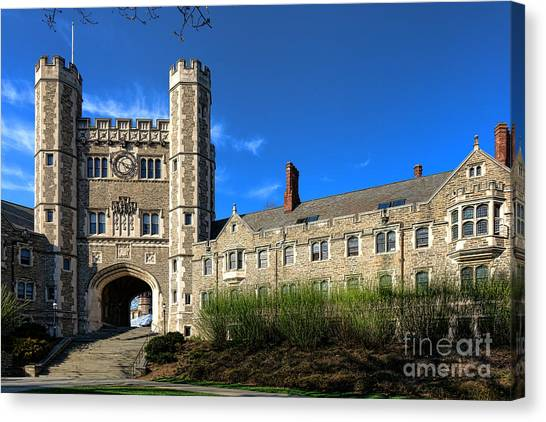 Princeton University Canvas Print - Princeton University Buyers Hall  by Olivier Le Queinec