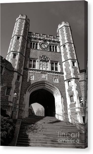Princeton University Canvas Print - Princeton University Buyers Hall Tower Stairs by Olivier Le Queinec