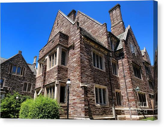 Princeton University Canvas Print - Princeton University Cuyler Hall by Olivier Le Queinec