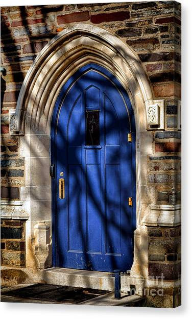 Princeton University Canvas Print - Princeton University Dorm Building Door by Olivier Le Queinec
