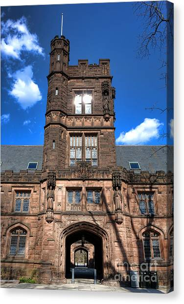 Princeton University Canvas Print - Princeton University East Pyne Hall  by Olivier Le Queinec