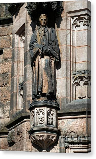 Princeton University Canvas Print - Princeton University J Witherspoon Statue  by Olivier Le Queinec