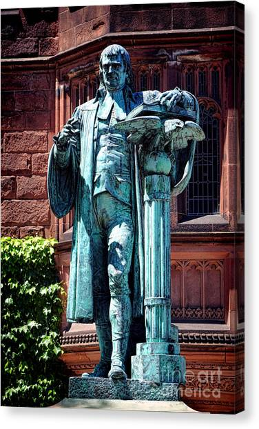 Princeton University Canvas Print - Princeton University John Witherspoon Statue by Olivier Le Queinec