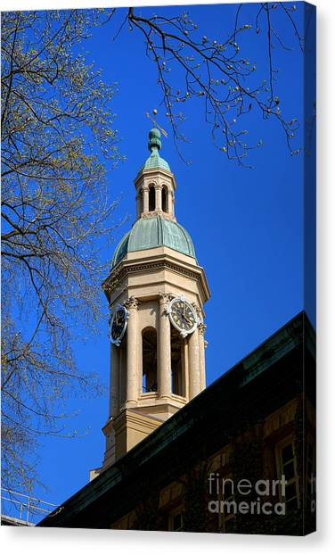 Princeton University Canvas Print - Princeton University Nassau Hall Bell Tower   by Olivier Le Queinec