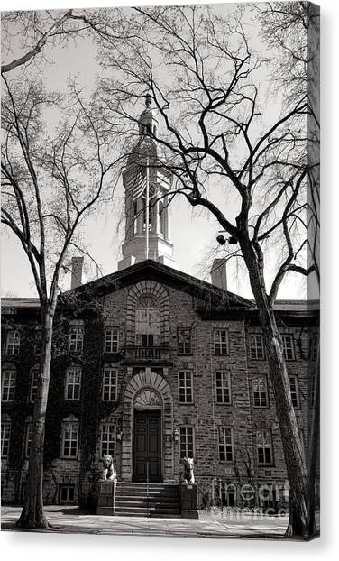 Princeton University Canvas Print - Princeton University Nassau Hall  by Olivier Le Queinec